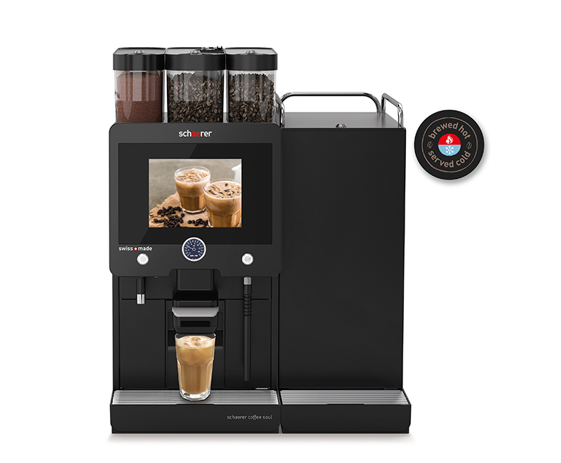 Schaerer Coffee Brewed Hot Served Cold Right Front Black 1